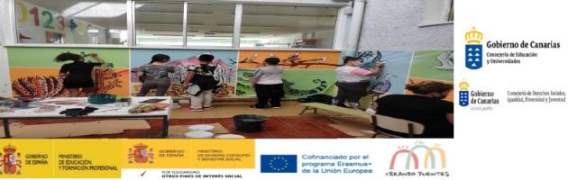 Diferentes talleres artísticos en el CEIP Juan Cruz Ruiz, de la mano de Salvatore Cibelli