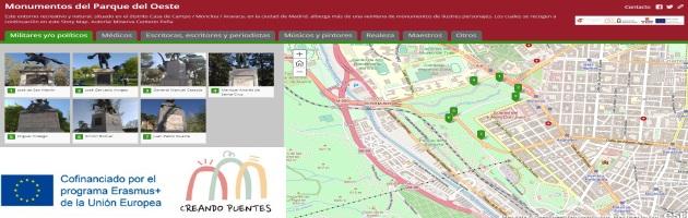 Creando Puentes y URJC: el Ayuntamiento de Madrid incluye en sus sistemas  la APP sobre Monumentos del Parque del Oeste